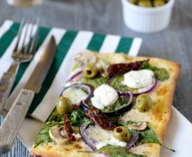 Recept: Pizza tricolore