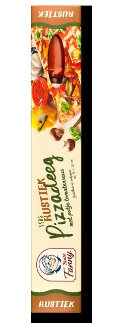 "Vers Pizzadeeg ""Rustiek"" met tomatensaus"