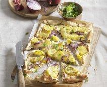 Flammkuchen met aardappel
