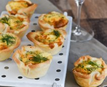 Mini quiches zalm