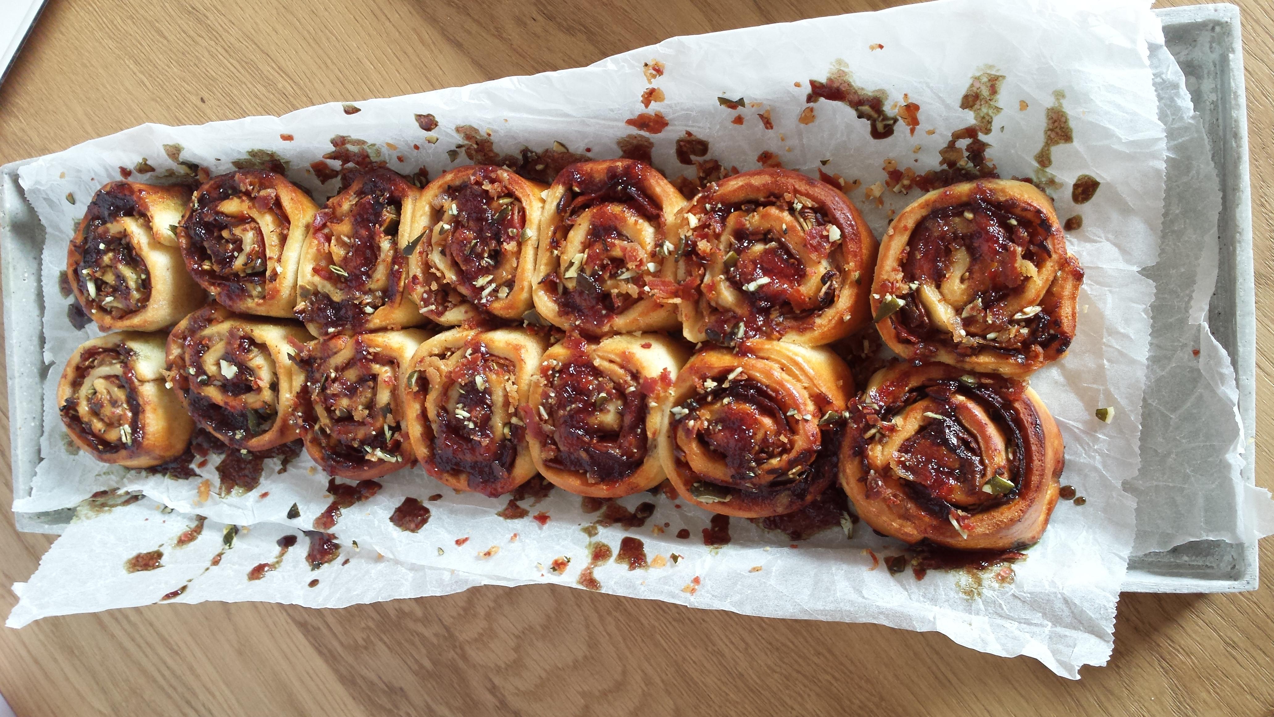 jam bacon rolls