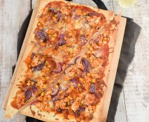 Recept: BBQ chicken pizza