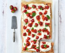 Recept: Zoete aardbeien pizza met mascarpone