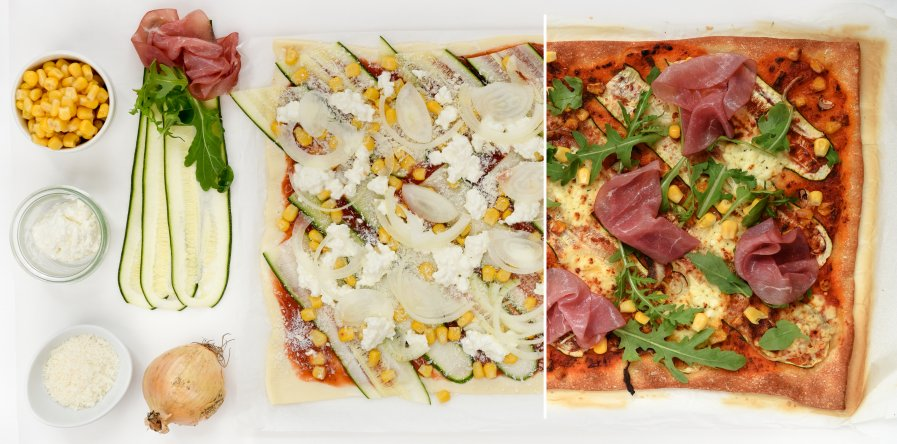 montage-huttenkase-courgette-pizza
