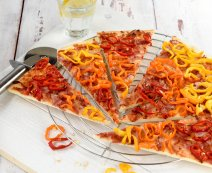 Recept: Paprika tricolore pizza