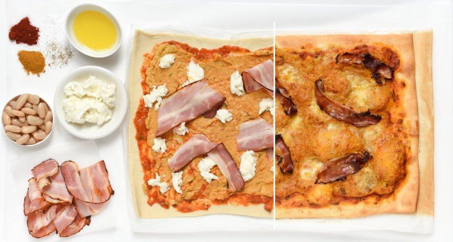 Zeeuwse spek pizza