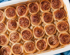 Recept: Cinnamon roll crumble met appel