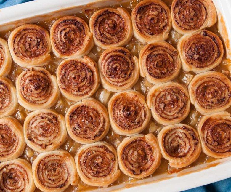 cinnamon roll crumble met appel Tante Fanny