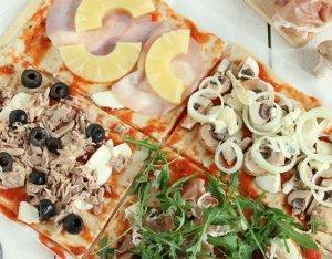 Recept: Plaatpizza met vier toppings