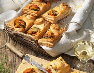Bladerdeegpakketjes met mediterrane groenten