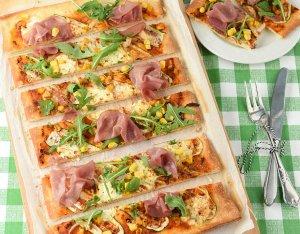 Recept: Courgette pizza met hüttenkäse