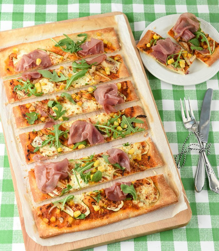 Courgette Pizza Tante Fanny