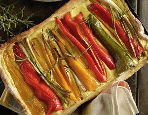 Recept: Flammkuchen met puntpaprika's