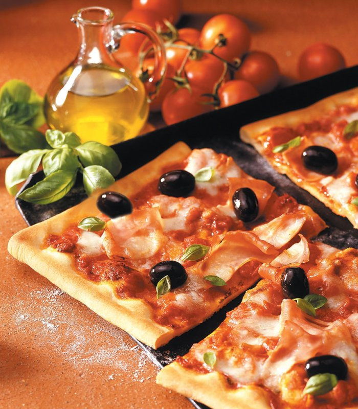 Kleurrijke familie pizza Tante Fanny