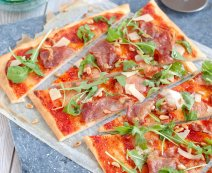 Recept: Pizza Parmaham