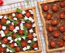 Recept: Plaattaart gekarameliseerde uien en tomaat