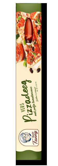 Vers pizzadeeg met tomatensauce - Tante Fanny