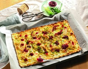 Recept: Flammkuchen met camembert