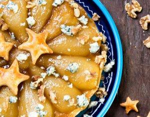 Recept: Tarte tatin met peer en blauwe kaas