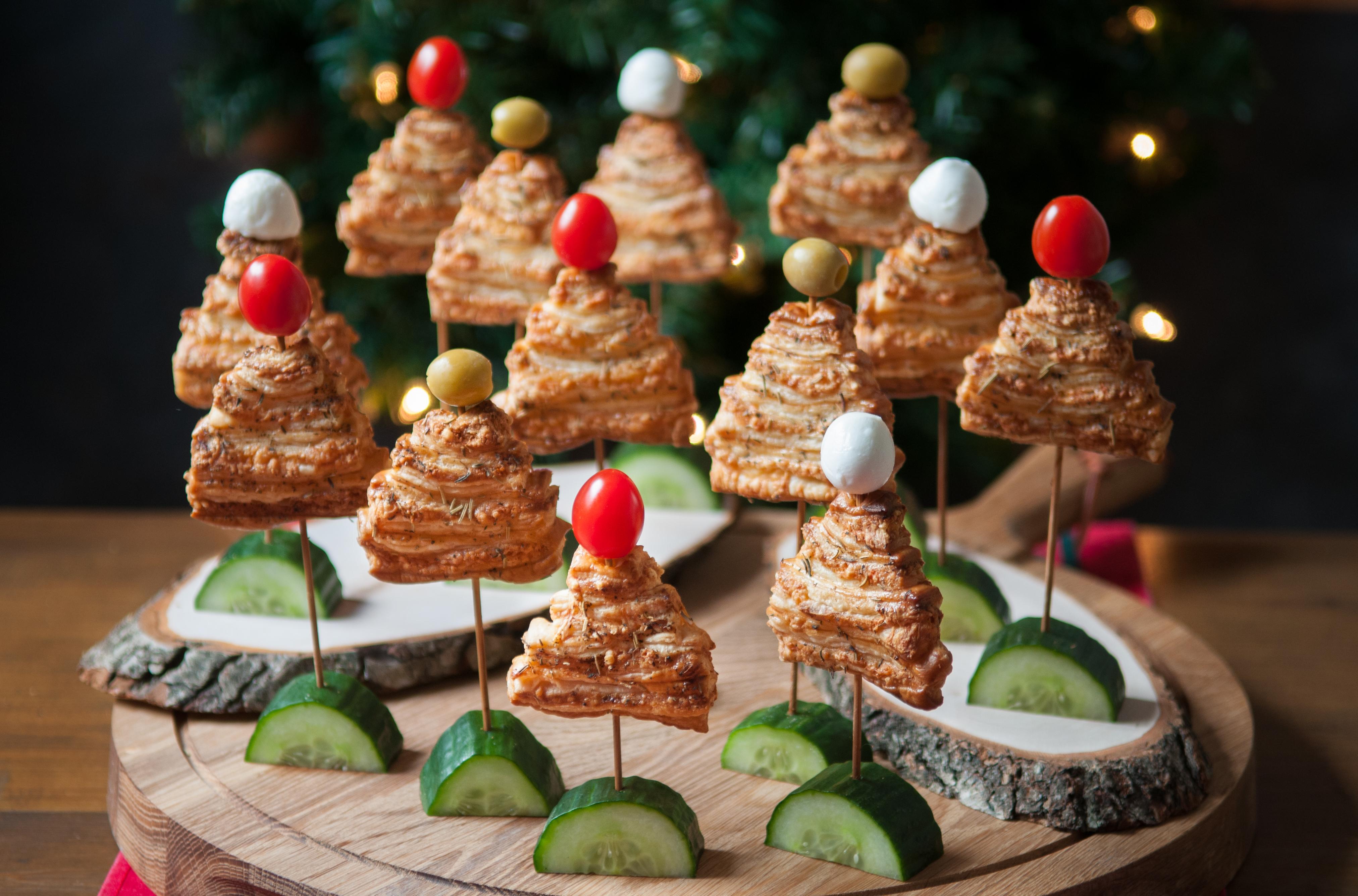 Kerstboomkoekjes met kaas