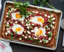 Recept: Shakshuka pizza