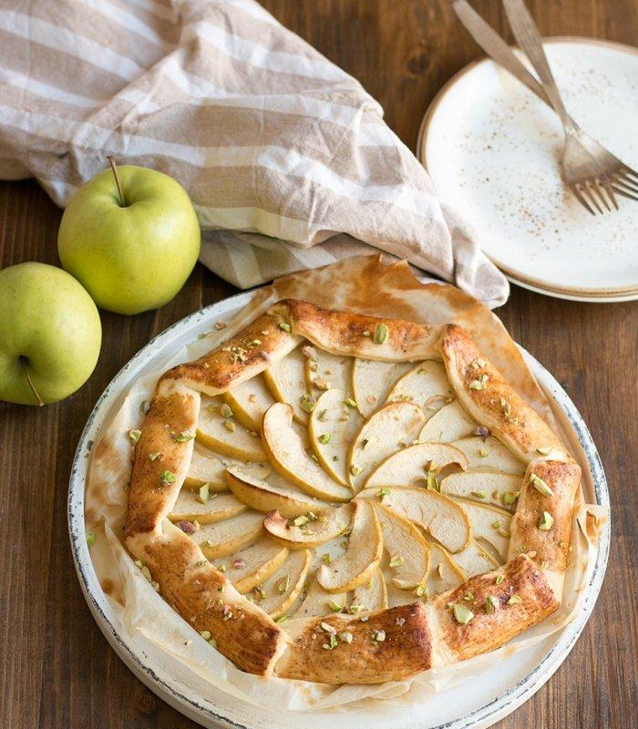 Zoete appelgalette met pistache