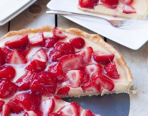 Recept: Aardbeienvlaai
