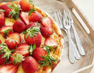 Recept: Aardbeien-mascarpone taart