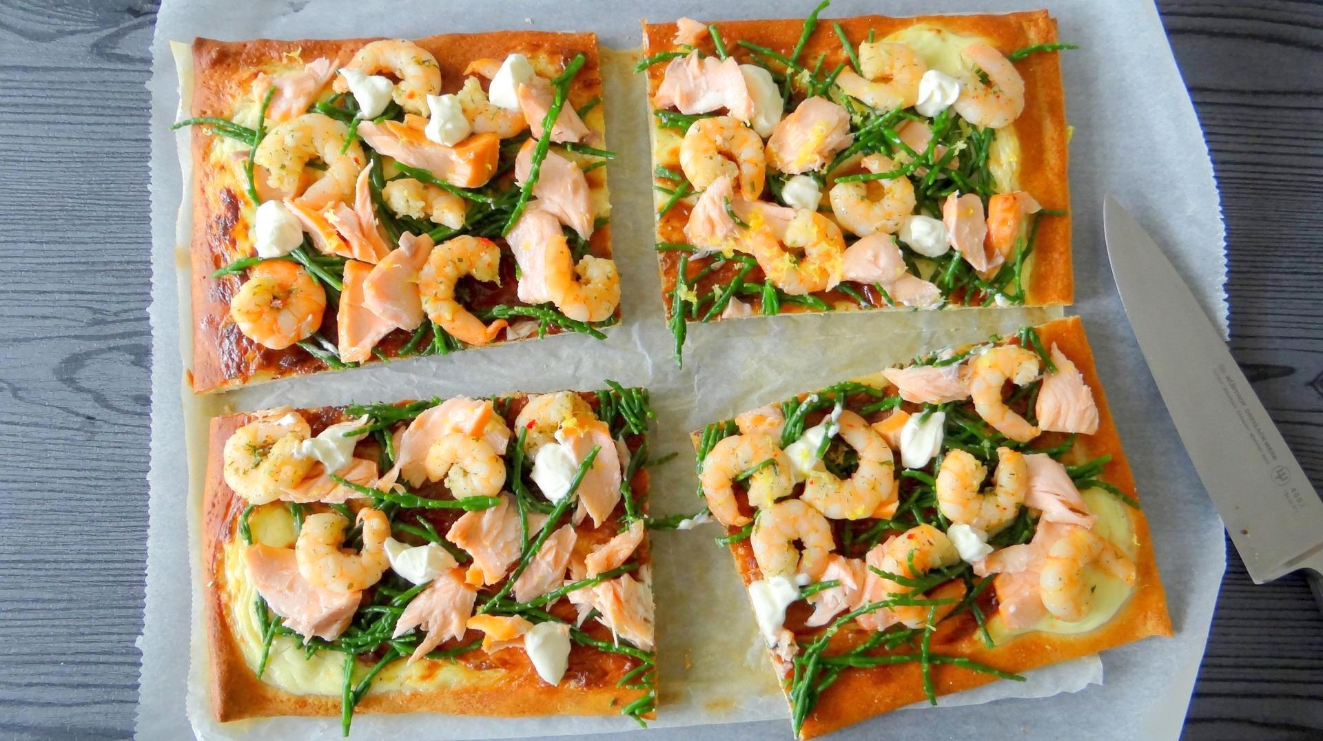 Pizza zalm