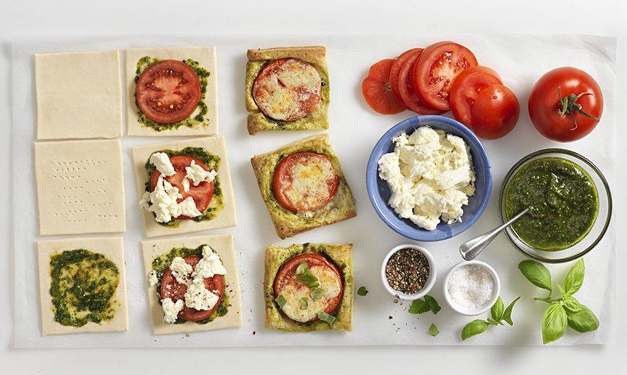Recept: Tomatensnacks met basilicumpesto - Tante Fanny