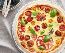 Recept: Quiche met bonte tomaten