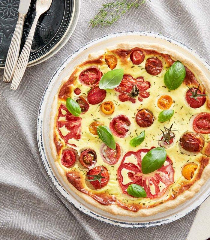 Recept: Quiche met Bonte tomaten - Tante Fanny