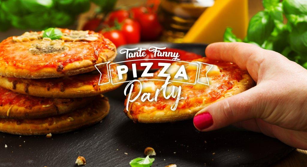 Goede Minipizza hapjes serveren op een feestje - Tante Fanny WC-81