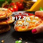 Minipizza hapjes serveren op een feestje