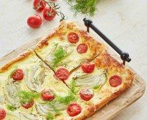 Recept: Venkel-Tomatenquiche van bladerdeeg
