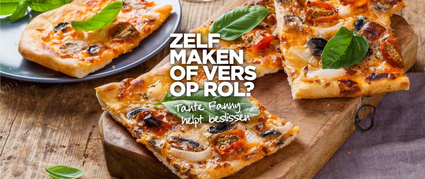 Blog: Pizzadeeg maken of kies je voor pizzadeeg op rol? - Tante Fanny