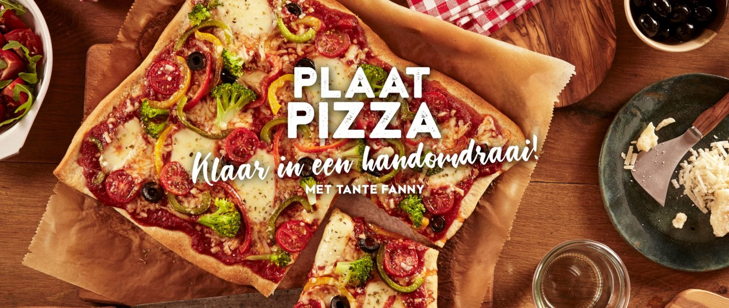 Blog -Plaat pizza - Tante Fanny