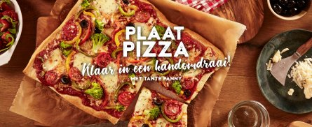Blog -Plaat pizza - Tante Fanny