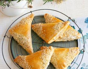 Recept: Aardpeer driehoeken met verse geitenkaas