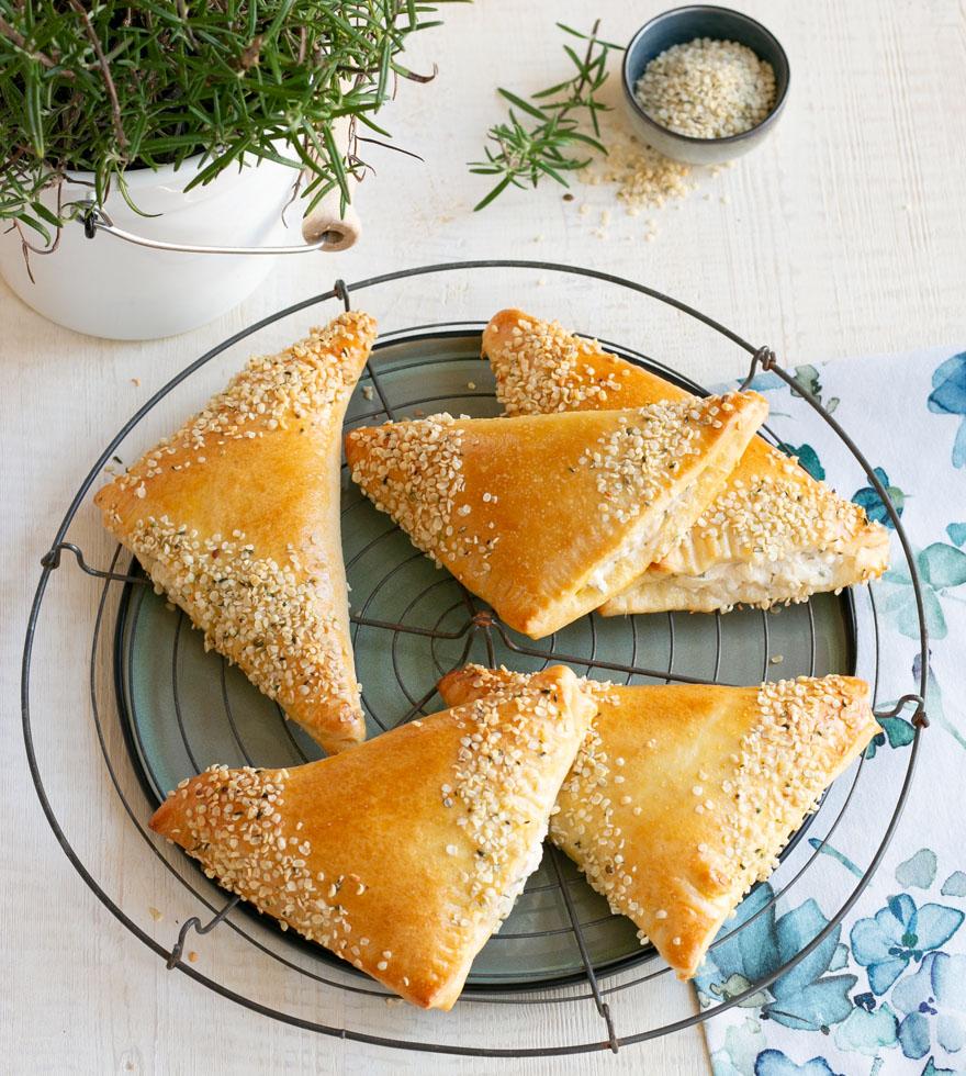 Aardpeer driehoeken met geitenkaas - Tante Fanny
