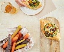 Vegan recept: pizzaschuitjes
