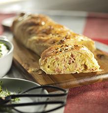 Recept: strudel met ham en aardappel