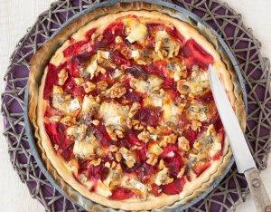 Recept: Rode bietenquiche met walnoten