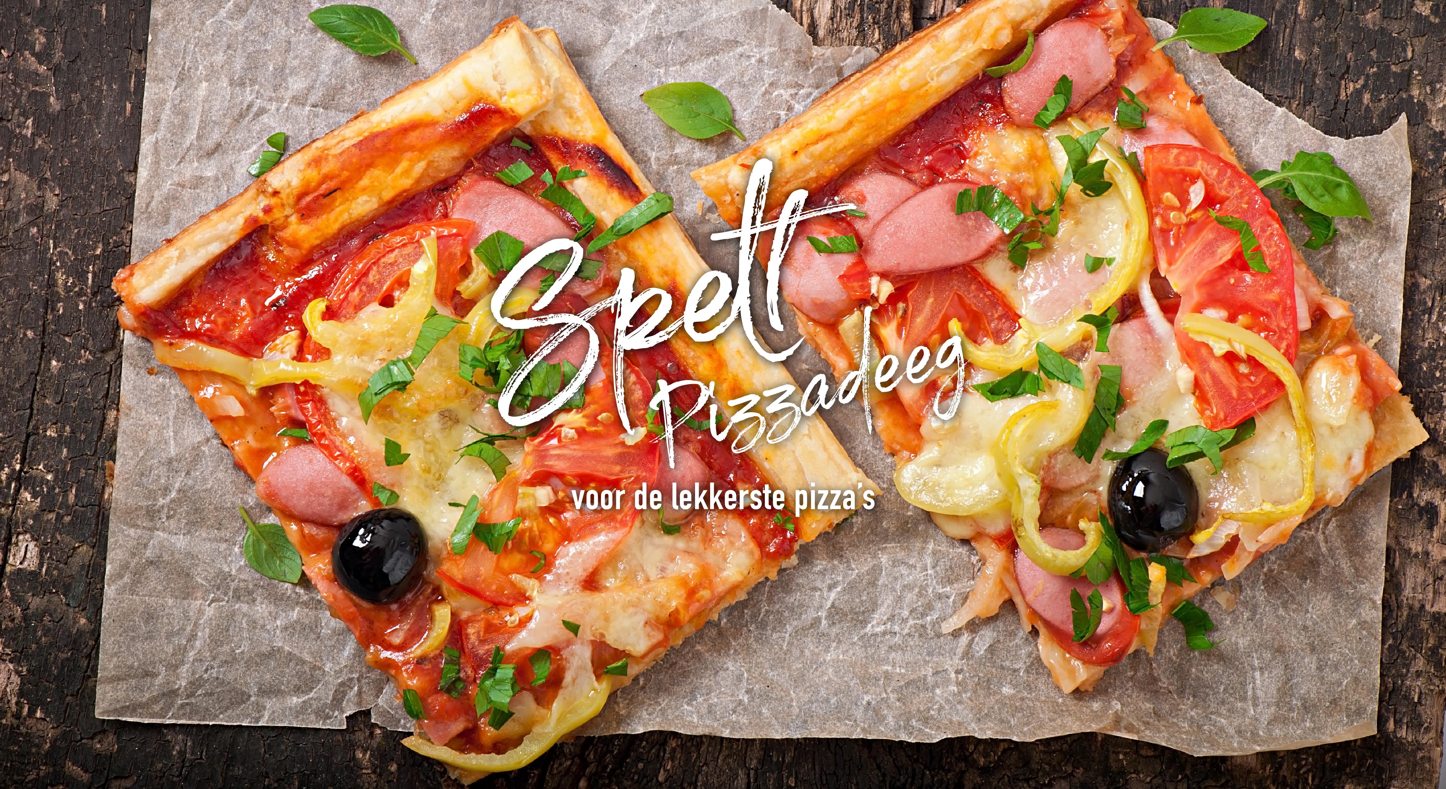 Spelt-pizzadeeg voor de lekkerste pizza's - Tante Fanny