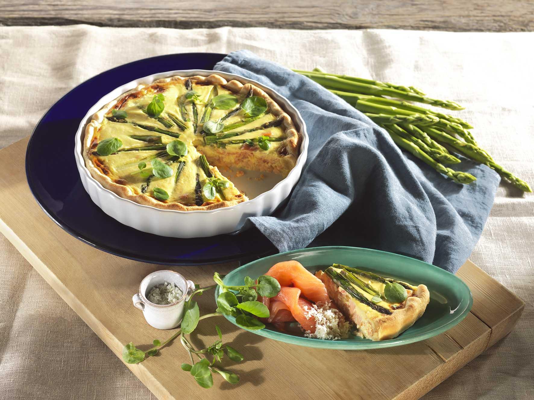 Recept: Quiche met asperges en zalm - Tante Fanny