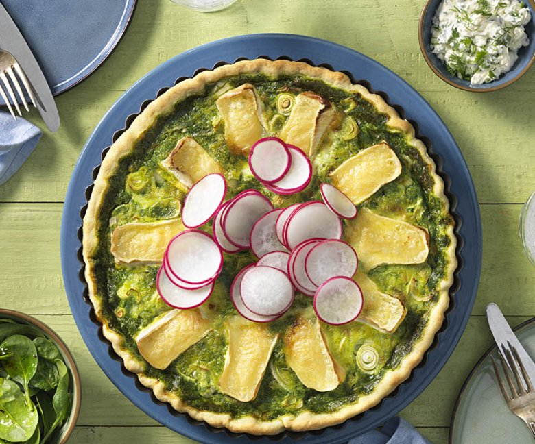 Recept: spinazie quiche met camembert - Tante Fanny