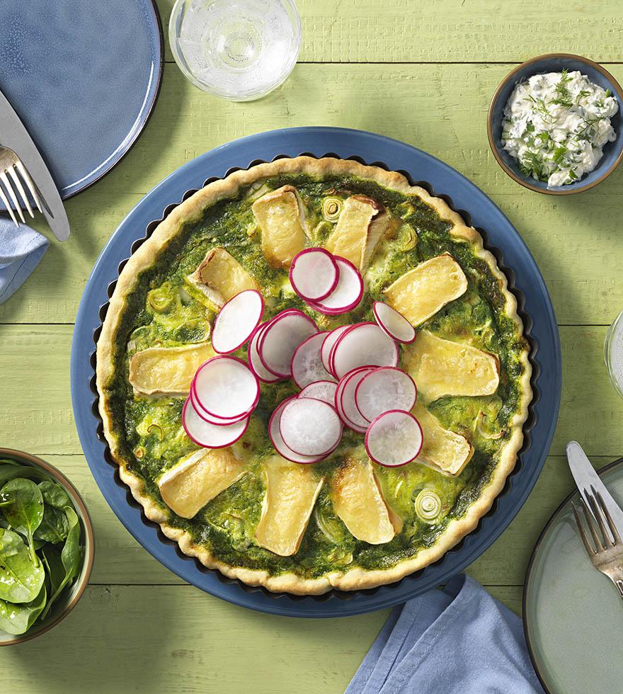 Recept: spinazie quiche met camembert - Tante Fanny