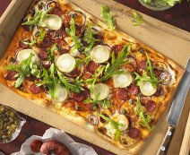 Recept: flammkuchen met chorizo