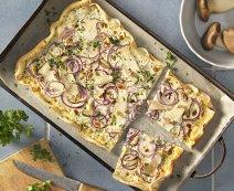 Recept: flammkuchen met oesterzwammen