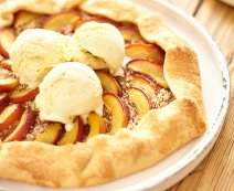 Recept: vegan nectarine galette